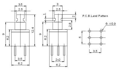 电工电料,线缆照明 电工电料 电工开关 供应按键开关5.8x5.8, 7x7, 8.