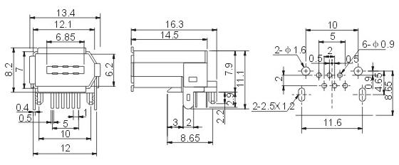 35插口 s端子 wp外接线插座 vga接口 usb/1394接口 ac电源插座 rj45