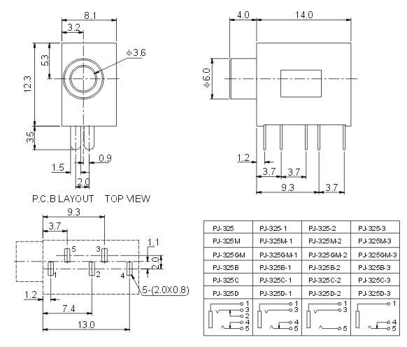 rj45插座电路图