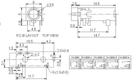 四孔插座接线电路图