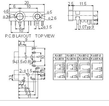 5双孔音频座; 3.5耳机插座; 广东深圳供应3.5耳机插座