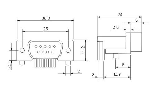 建筑电路图插座符号