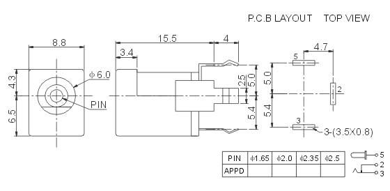 4个插座简易电路图